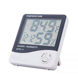 1x Misika LCD Thermomètre Hygromètre avec Sonde Sans Fil Haute Précision avec Affichage LCD Digital Thermo Hygromètre Digital Testeur Mesure Humidité et Température Intérieur Extérieur Numérique de la marque Misika image 0 produit