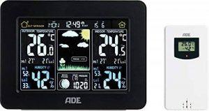 ADE Station météo WS 1503avec radio et capteur extérieur (Noir) de la marque ADE image 0 produit