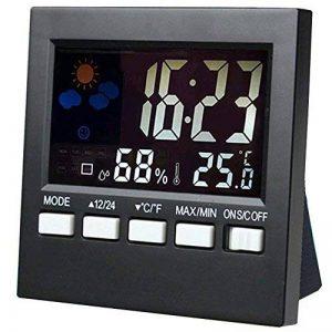 ADICOM Station Météo Thermomètre Hygromètre Réveil Horloge Écran LCD Digital de la marque ADICOM image 0 produit