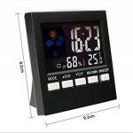 ADICOM Station Météo Thermomètre Hygromètre Réveil Horloge Écran LCD Digital de la marque ADICOM image 3 produit