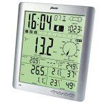 Alecto 3800Station météo avec écran large avec mesure de la température, vitesse du vent, l'humidité et la pluviosité avec mémoire Historique, argenté/blanc, 18,9x 47x 41,6cm de la marque ALECTO image 1 produit
