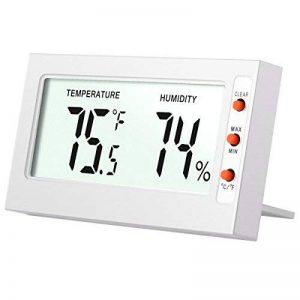 AMIR Thermomètre Hygromètre Intérieur Sans Fil, Thermo-hygromètre Électronique, Moniteur de Température et d'humidité, °C / °F Commutateur, Portable Taille Mini, Piles Incluses (Blanc) de la marque AMIR image 0 produit