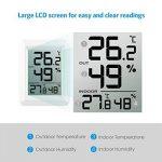 AMIR Thermomètre Hygromètre Intérieur Numérique, Hygromètre Thermomètre Extérieur Sans Fil, Grand Écran LCD, ℃/℉ Commutateur, Moniteur de Température et d'humidité Intérieur / Extérieur (Blanc) de la marque AMIR image 2 produit