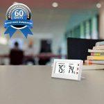 AMIR Thermomètre Hygromètre Intérieur Sans Fil, Thermo-hygromètre Électronique, Moniteur de Température et d'humidité, °C / °F Commutateur, Portable Taille Mini, Piles Incluses (Blanc) de la marque AMIR image 2 produit