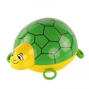 ANSMANN Projecteur de lumière à LED tortue / lampe de décoration pour chambre de bébé qui l'aide au sommeil grâce à sa musique et jeu de couleurs / Veilleuse avec capteur tactile pour une mise en marche et arrêt intuitifs de la marque Ansmann image 0 produit