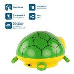 ANSMANN Projecteur de lumière à LED tortue / lampe de décoration pour chambre de bébé qui l'aide au sommeil grâce à sa musique et jeu de couleurs / Veilleuse avec capteur tactile pour une mise en marche et arrêt intuitifs de la marque Ansmann image 2 produit