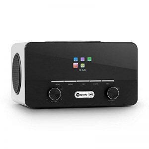 auna Connect 150 WH • Internet 2.1 • numérique • Wifi • réseau • DAB/DAB+/FM RDS • Spotify • USB MP3 • AUX • 2 enceintes • réveil • arrêt auto • intensité réglable • télécommande • bois • blanc de la marque Auna image 0 produit