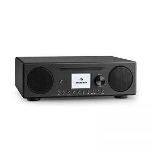 """auna Connect CD • radio Internet • radio numérique • Wifi • DAB/DAB+/FM RDS • BT • Spotify • AUX • 10 mémoires • lecteur CD MP3 • port USB • réveil • arrêt automatique • TFT couleur (2,8"""") • noir de la marque Auna image 0 produit"""