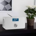 auna DABStep - Radio numérique avec tuner DAB, DAB+, FM et Bluetooth (fonction alarme, entrée AUX, télécommande) - blanc de la marque Auna image 1 produit