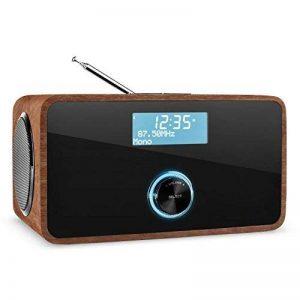 auna DABStep Radio numérique avec tuner DAB, DAB+, FM et Bluetooth (fonction alarme, entrée AUX, télécommande) - noyer de la marque Auna image 0 produit
