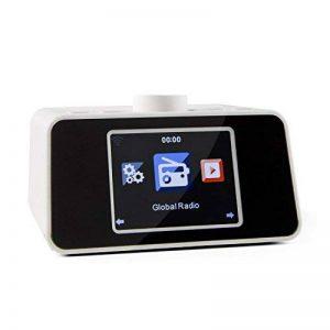 Auna i-snooze Internet Radio numérique Wifi (Interface Web, port USB, MP3, Bluetooth, écran TFT à couleurs, entrée aUX, réveil, informations météo, equalizer)–Noir de la marque Auna image 0 produit