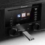 auna IR-190WD radio internet • radio numérique • radio WLAN • lecteur réseau • Bluetooth • port USB MP3 • AUX • réveil • minuterie • affichage couleur 2,8 pouces TFT • intensité variable • noir de la marque Auna image 5 produit