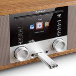 auna IR-190WD radio internet • radio numérique • radio WLAN • lecteur réseau • Bluetooth • port USB MP3 • AUX • réveil • minuterie • affichage couleur 2,8 pouces TFT • intensité variable • noisette de la marque Auna image 5 produit