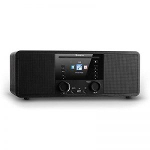 auna IR-190WD radio internet • radio numérique • radio WLAN • lecteur réseau • Bluetooth • port USB MP3 • AUX • réveil • minuterie • affichage couleur 2,8 pouces TFT • intensité variable • noir de la marque Auna image 0 produit
