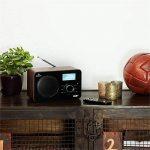 Auna Worldwide • Radio internet • Radio numérique • Radio Wifi • WLAN/LAN • Tuner DAB/DAB+ RDS • FM/AM • AUX USB MP3 • Réveil, snooze et sleep-timer • Ecran LCD • Télécommande • Bois • marron de la marque Auna image 2 produit
