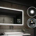 Beau Miroir Salle De Bain Lumineux LED Interrupteur tactile et Station météo de la marque FORAM image 1 produit