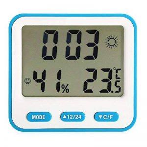 Bk - 854 Hygromètre Thermomètre Station Météo Multi-Fonction Numérique Température Réveil avec Humidité/Minuterie/Calendrier avec écran Lcd, Station Meteo Interieur Exterieur sans Fil (bleu) de la marque Genérico image 0 produit
