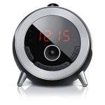 Brandson - Réveil avec Radio FM | Radio-Réveil à projection 180° rotatif | radio-horloge | Retro réveil numérique | Grand Écran | Luminosité Réglable | Noir de la marque Brandson image 1 produit