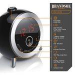 Brandson - Réveil avec Radio FM | Radio-Réveil à projection 180° rotatif | radio-horloge | Retro réveil numérique | Grand Écran | Luminosité Réglable | Noir de la marque Brandson image 2 produit