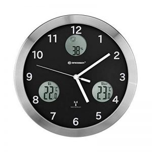 Bresser 8020201 MyTime IO Horloge Murale Acier Inoxydable Noir 30 x 4 x 30 cm de la marque Bresser image 0 produit