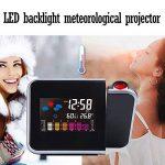 Cewaal Réveil de projection, Réveil LED numérique LCD Rétro-éclairage Snooze Station météo Réveil Éclairage de la marque Cewaal image 1 produit