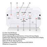 Créatif Réveil Matin Snooze reveille matin horloge stations météo réveil numérique Alarme Clock Écran rétroéclairé LED Affichage numérique de avec la fonction de spectacle de Date de Calendrier, Température, Temps, Voyants Intelligents de la marque Amasaw image 2 produit