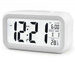 Créatif Réveil Matin Snooze reveille matin horloge stations météo réveil numérique Alarme Clock Écran rétroéclairé LED Affichage numérique de avec la fonction de spectacle de Date de Calendrier, Température, Temps, Voyants Intelligents de la marque Amasaw image 0 produit