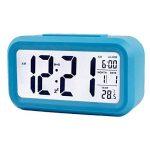 Créatif Réveil Matin Snooze reveille matin horloge stations météo réveil numérique Alarme Clock Écran rétroéclairé LED Affichage numérique de avec la fonction de spectacle de Date de Calendrier, Température, Temps, Voyants Intelligents de la marque Amasaw image 4 produit