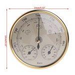 Cuigu Thermomètre Hygromètre Station météorologique de ménage 3 dans 1 pendule de hygromètre de thermomètre de baromètre (D'or) de la marque Cuigu image 2 produit
