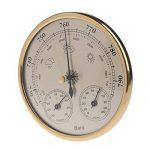 Cuigu Thermomètre Hygromètre Station météorologique de ménage 3 dans 1 pendule de hygromètre de thermomètre de baromètre (D'or) de la marque Cuigu image 4 produit