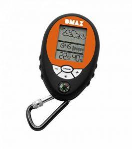 D-MAX Mobile 6en 1Station météo, noir/orange, 9.2x 6x 2cm de la marque D-max image 0 produit