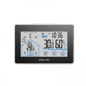 Decdeal Horloge Thermomètre Hygromètre d'extérieur Intérieur LED Wi-Fi avec Indicateur de Niveau Bouton Tactile de la marque Decdeal image 0 produit
