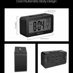 Digoo DG-C4 Digital Sensitive Backlit LCD Thermometer Alarm Clock Office Alarm Clock Dual Alarm With Snooze by scoutBAR de la marque DIGOO image 3 produit