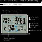 DIGOO DG-TH1001 Thermomètre / Hygromètre Intérieur / Extérieur Grand écran Transparent Capteur Sans Fil Humidité Moniteur Numérique de la marque DIGOO image 3 produit