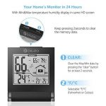 DIGOO DG-TH1117 Thermomètre Hygromètre Intérieur, Moniteur de Température et d'Humidité Avec Enregistrements MIN / MAX Mini Noir de la marque DIGOO image 2 produit