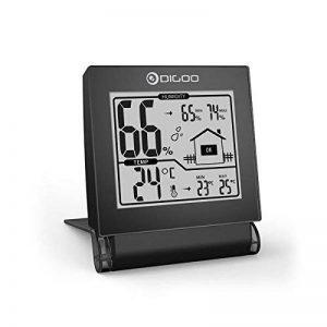 DIGOO DG-TH1117 Thermomètre Hygromètre Intérieur, Moniteur de Température et d'Humidité Avec Enregistrements MIN / MAX Mini Noir de la marque DIGOO image 0 produit