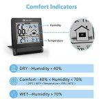 DIGOO DG-TH1117 Thermomètre Hygromètre Intérieur, Moniteur de Température et d'Humidité Avec Enregistrements MIN / MAX Mini Noir de la marque DIGOO image 3 produit