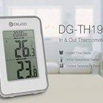 DIGOO DG-TH1980 Température Thermomètre Intérieure et Extérieure, Station Météo avec Horloge Radio et Capteur Extérieur - Fonction Temps Réveil (+ Snooze) - Blanc de la marque DIGOO image 3 produit