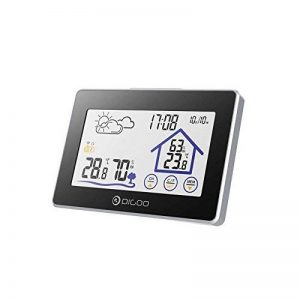 Digoo DG-TH8380 Wireless Touch Screen Weather Station Thermometer Outdoor Weather Forecast Sensor Clock by scoutBAR de la marque DIGOO image 0 produit