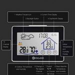 Digoo DG-TH8380 Wireless Touch Screen Weather Station Thermometer Outdoor Weather Forecast Sensor Clock by scoutBAR de la marque DIGOO image 1 produit