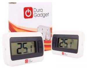 DURAGADGET Lot de 2 Thermomètres Digital Blanc Sans Fil - écran LCD - avec Port de Maintien, Garantie 5 ans de la marque Duragadget image 0 produit