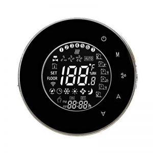 Elenxs WiFi intégré Climatiseur central Régulateur de température 4 Tuyau Thermostat programmable LCD rétro-éclairage écran tactile noir de la marque ELENXS image 0 produit