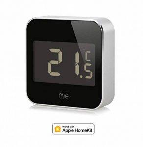 Elgato Eve Degree - Station Météo pour Temperature, humidité et Pression atmosphérique avec Technologie Apple HomeKit, Écran LCD, Bluetooth Low Energy de la marque Elgato image 0 produit