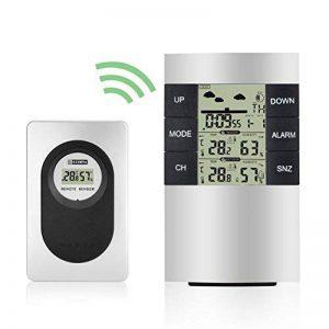 Elinker station météo numérique sans fil, Thermomètre étanche Intérieur et Extérieur, hydromètre, Affichage de la température et taux d'humidité-Station météo,Horloge, réveil, calendrier, etc; é de la marque Elinker image 0 produit