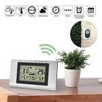 Elinker station météo numérique sans fil,Thermomètre waterproof pour l'Intérieur et l'Extérieur,Affichage de température et taux d'humidité,Station météo,Horloge, réveil,écran LCD de la marque Elinker image 1 produit