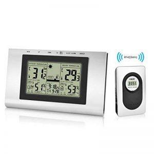 Elinker station météo numérique sans fil,Thermomètre waterproof pour l'Intérieur et l'Extérieur,Affichage de température et taux d'humidité,Station météo,Horloge, réveil,écran LCD de la marque Elinker image 0 produit