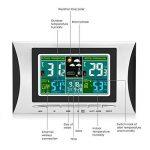 Elinker Thermo-hygromètre numérique sans fil, Thermomètre hydromètre waterproof Intérieur et Extérieur, Affichage LCD en couleurs de température et taux d'humidité,Station météo,Horloge, réveil,etc. de la marque Elinker image 2 produit
