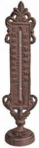 Esschert Design Thermomètre debout, marron, 5.9x 5,2x 22.4, th74 de la marque Esschert Design image 0 produit