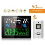 Excelvan Horloges Stations Météo avec Écran LED Intérieure/Extérieure Sans Fil avec Capteur extérieur (Baromètre) avec Alarme de la marque Excelvan image 1 produit