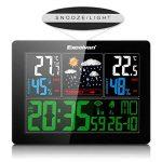 Excelvan Horloges Stations Météo avec Écran LED Intérieure/Extérieure Sans Fil avec Capteur extérieur (Baromètre) avec Alarme de la marque Excelvan image 2 produit